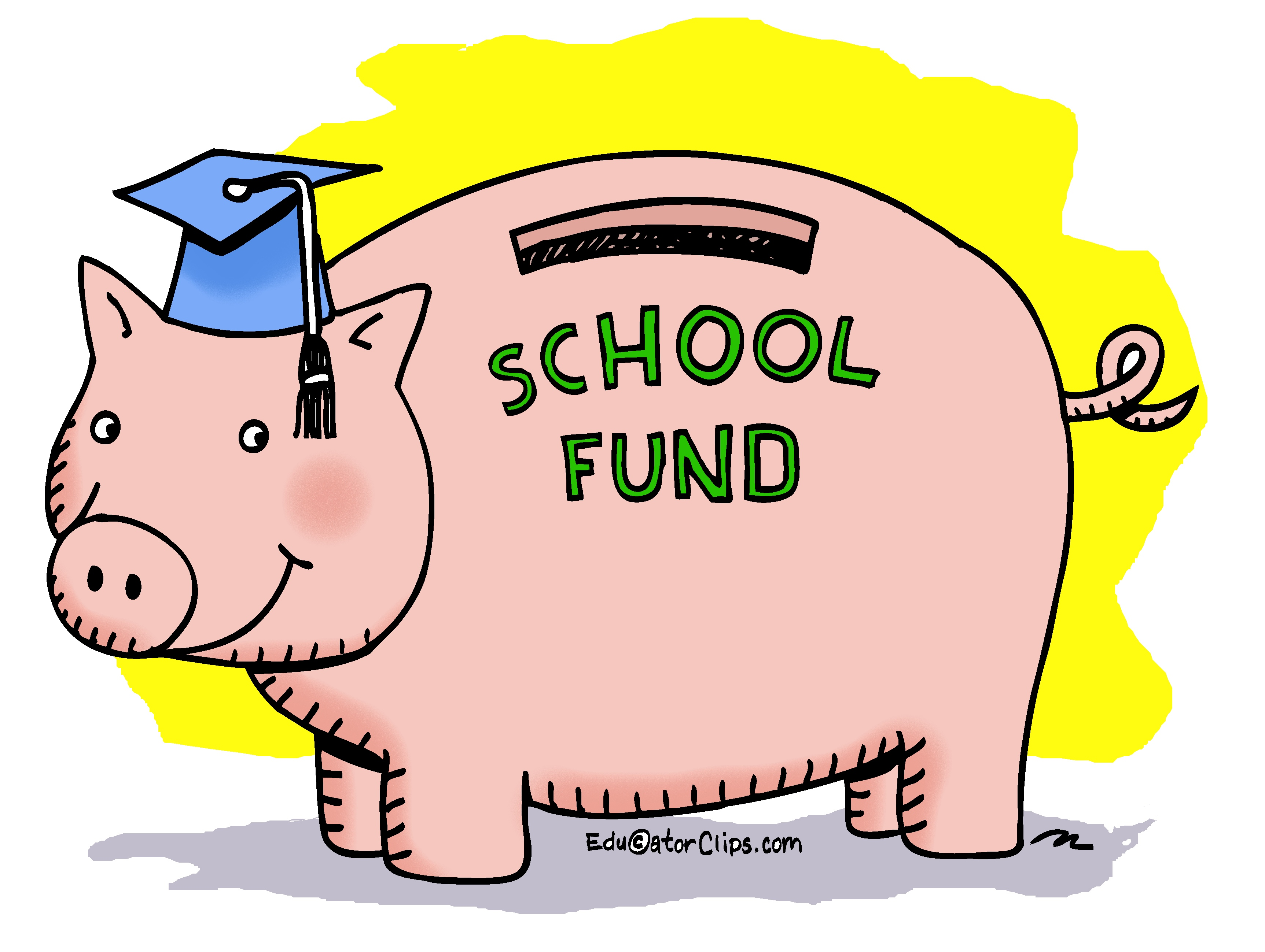 School Fund Pig Bank